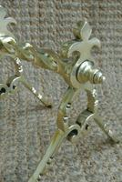 Quality Aesthetic Movement Brass Fire-Dogs Fire Iron Rests Andirons c.1880 (5 of 7)