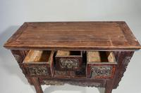 19th Century Chinese Alter Table with Elaborately Carved Facade (4 of 7)