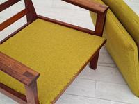 "Danish Design by Illum Wikkelsø Armchair ""Capella"" Series, 70s, Teak, Renovated-reupholstered (7 of 13)"