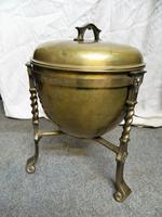 Arts & Crafts Brass Coal Bin (2 of 6)