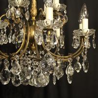 Italian Gilded 12 Light Antique Chandelier (8 of 8)