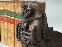 Good Pair of 18th Century Indian Carved Horse Head Bookends (4 of 9)