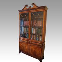 George VI Mahogany Library Bookcase (2 of 13)