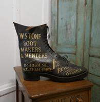 Edwardian Shoe Shop or Cobblers Trade Sign, Leather Boot Display Model (2 of 11)