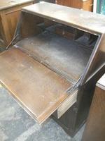 Carved Oak Linen-fold Bureau (3 of 3)