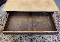 Antique Victorian Pine Farmhouse Table with Drawer (9 of 16)