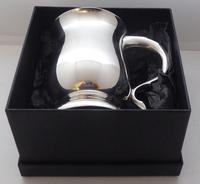 1934 Hallmarked Solid Silver 1/2 Pint Tankard Christening Mug Selfridge & Co (10 of 10)