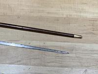 Gentleman's Walking Stick Sword Stick with Silver Collar Hallmarked Chester 1912 (16 of 25)