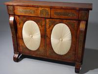 Very Fine Quality Slender Regency Brass Inlaid Side Cabinet (5 of 5)