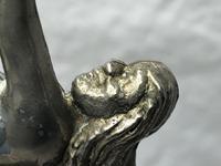 Fine Small Original Art Deco Chrome Nude Lady Table Lamp Light Base (13 of 21)