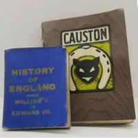 Miniature History of England by Goode bros. And a Causton Calander 1908