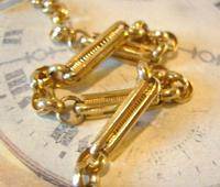 Vintage Pocket Watch Chain 1950s 12ct Gold Plated Large Fancy Link Albert Victorian Revival (8 of 12)