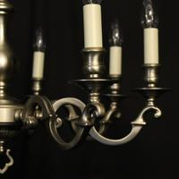 French Silver Plated 8 Light Chandelier (3 of 10)