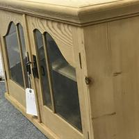Old Pine Glazed Wall Hanging Cupboard (5 of 5)