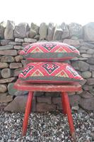 Early 20th Century, Antique Swedish Woven Textile, Geometric Patterned 're-stuffed cushions' (4 of 20)