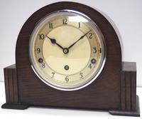 Fine Garrard Art Deco Mantel Clock 8 Day Westminster Chime Mantle Clock (4 of 11)