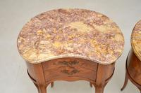 Pair of Antique French Marble Top Kidney Bedside Tables (12 of 12)