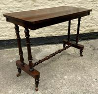 Fine 19th Century Regency Period Rosewood Veneered Occasional Writing Side Centre Table (3 of 12)