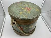 Antique Treen Hand Painted Sewing Box c.1915 (8 of 9)