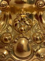 Pair of Decorative French 19th Century Gilded Hallmarked Cartouche Scroll Candlesticks (8 of 40)