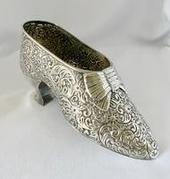 Large Very Rare Sterling Silver Shoe Box. Birmingham 1921 (8 of 9)
