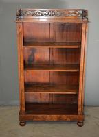 Antique Burr Walnut Open Bookcase (4 of 4)