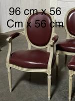 Set of 8 French Dining Chairs Lovely Original Finish (12 of 18)