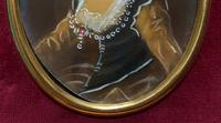 Lovely Original Vintage Miniature Portrait Oil Painting in 18th Century Manner (4 of 8)