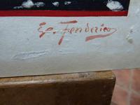 Watercolour Mischievous Putti Listed Artist E P Fenderico (2 of 14)