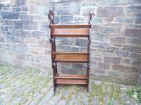Arts & Crafts Carved Oak Book Rest (13 of 13)