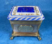 Arts & Crafts Glass and Brass Single Tea Caddy. (18 of 18)