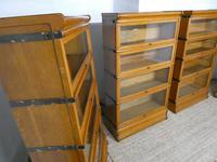 Set of Four Oak Globe Wernicke Bookcases (3 of 11)