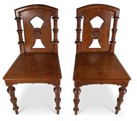 Pair of English Hall Chairs (4 of 6)