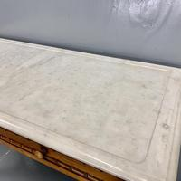 French Marble Top Faux Bamboo Dressing Table (6 of 8)