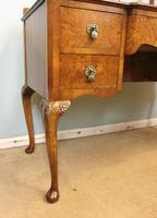 Antique Burr Walnut, Triple Mirror Shaped Dressing Table (5 of 12)
