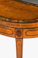 George III Period D-shaped Satinwood Card Table (7 of 7)