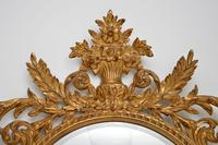 Large Mid Century French Carved Giltwood Mirror (3 of 10)
