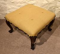 Victorian Carved Rosewood English Stool (4 of 5)