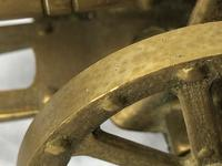Small Antique French Victorian 19th Century Brass Cannon Ornament (10 of 18)