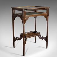 Antique Bijouterie Table, English, Walnut, Glass, Display, Edwardian c.1910 (7 of 12)