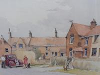 Watercolour Country Village Exhibited Artist Tony Hunter (10 of 10)