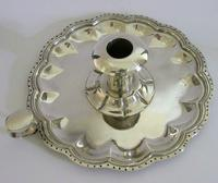 Huge Heavy Mexican Solid Sterling Silver Chamberstick Candlestick Holder c.1930 (6 of 8)