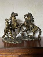 Fine Pair of Gilt-bronze Models of Marley Horses (9 of 12)