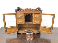 Antique Edwardian Oak Smoker's Cabinet (M-1571) (10 of 12)