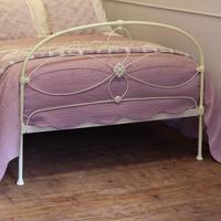 Cream Victorian Cast Iron Bedstead with Hoop Over Design (9 of 10)