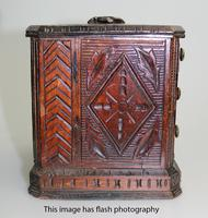 Black Forest Miniature Apprentice Piece Carved Chest 19th Century (7 of 11)