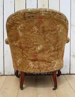 Antique French Tub Chair For Re-upholstery (6 of 8)