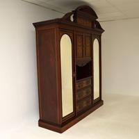 Antique Victorian Inlaid Mahogany Wardrobe by James Shoolbred (10 of 17)