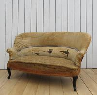 Antique French Napoleon III Sofa for re-upholstery