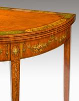 George III Period Demilune Satinwood Card Table (7 of 7)